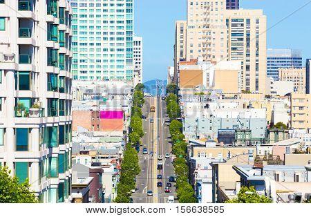 Cable Car California St Telephoto San Francisco H