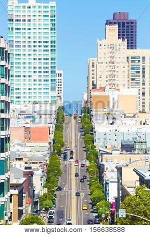 Cable Car California St Telephoto San Francisco V
