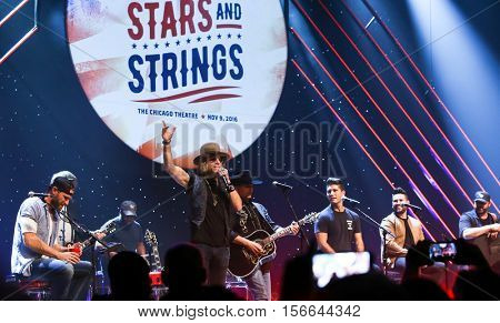 CHICAGO-NOV 9: Big Kenny performs at CBS Radio's Stars & Stripes event at the Chicago Theatre on November 9, 2016 in Chicago, Illinois.