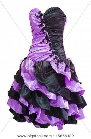 Ladies' Violet Black Cocktail Dress