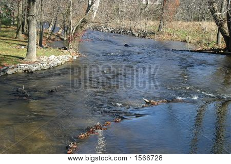Riffles On Mountain Stream