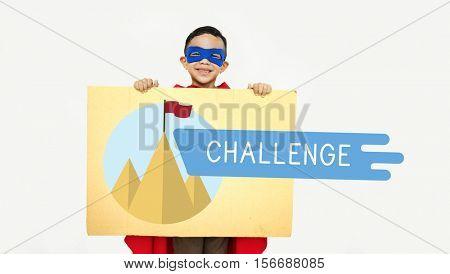 Achievement Challenge Success Rock Climbing Mountain Concept