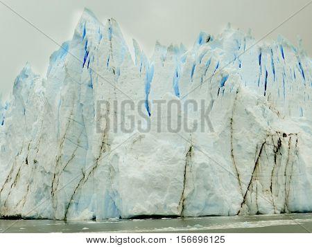 glacier called perito moreno in patagonia,  argentina