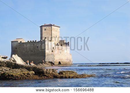 Astura tower the saracenic castle near Rome Lazio