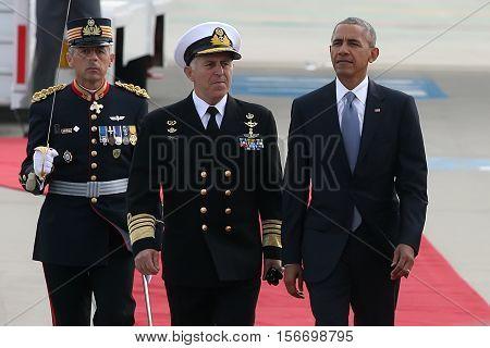 President Barack Obama Arrives At The Athens