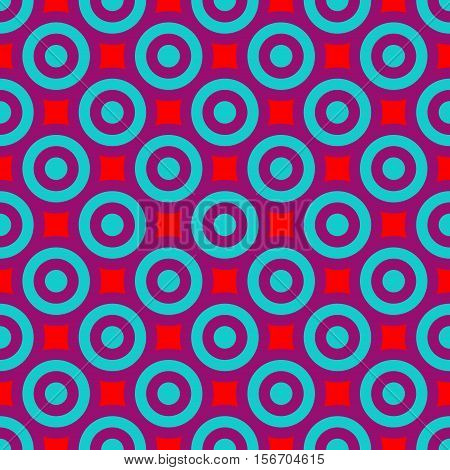 Polka dot geometric seamless pattern. Fashion graphic background design. Modern stylish abstract colorful texture. Template for prints textiles wrapping wallpaper website Stock VECTOR illustration