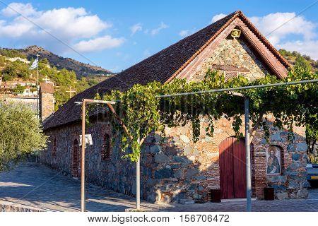 The Church Timiou Prodromou at Agros village. Limassol District Cyprus.