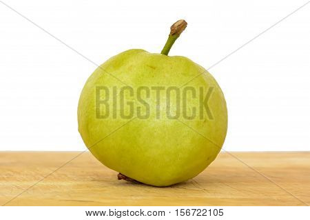 Guava On The Chopping Board Wood