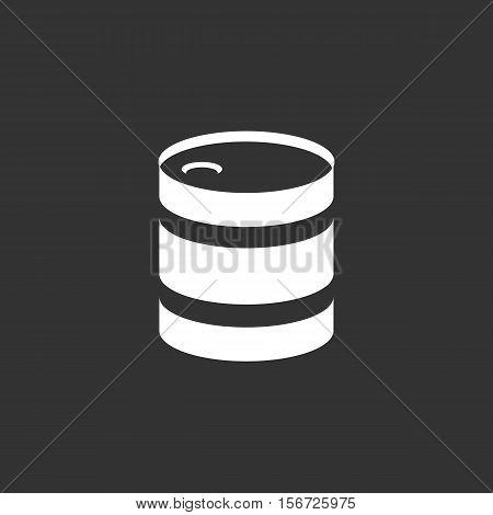 Barrel icon. Logo isolated on black background. Vector illustration