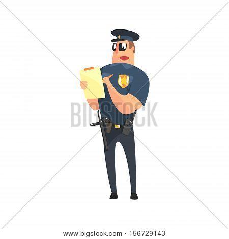 Road Policeman In