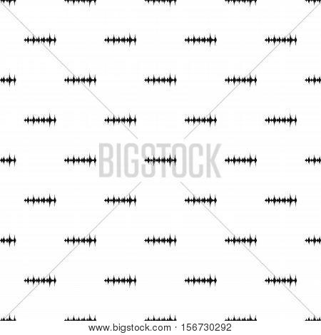 Audio digital equalizer pattern. Simple illustration of audio digital equalizer vector pattern for web