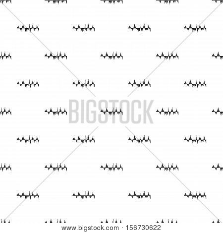Audio equalizer technology pattern. Simple illustration of audio equalizer technology vector pattern for web