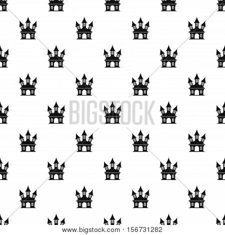 Witch castle pattern. Simple illustration of witch castle vector pattern for web
