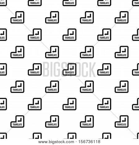 Translate button pattern. Simple illustration of translate button vector pattern for web