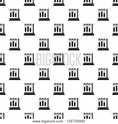 Medical test tubes in holder pattern. Simple illustration of medical test tubes in holder vector pattern for web