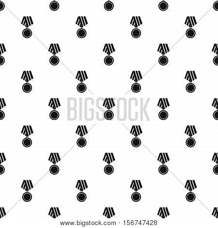 Military medal pattern. Simple illustration of military medal vector pattern for web