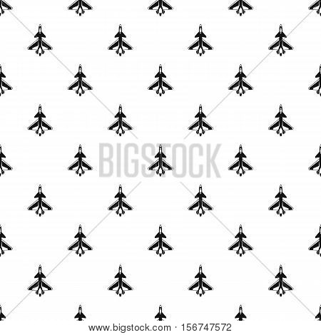 Military aircraft pattern. Simple illustration of military aircraft vector pattern for web