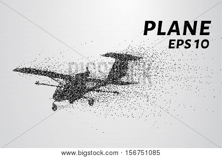 The plane of the particles. The plane disintegrates to smaller molecules.