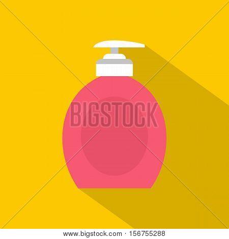 Liquid soap icon. Flat illustration of liquid soap vector icon for web