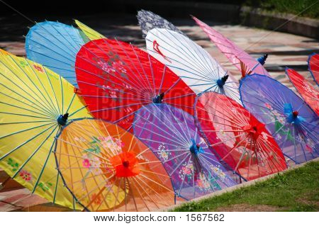 Colorful Chinese Unbrellas