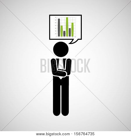 concept stock exchange market graphics growth icon vector illustration eps 10