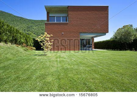 casa moderna de ladrillos