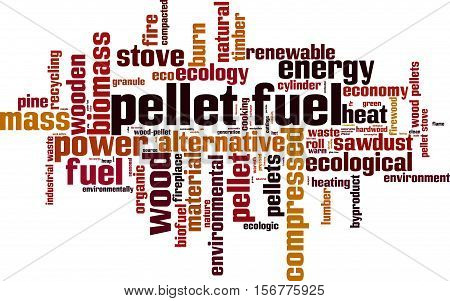 Pellet fuel word cloud concept. Vector illustration