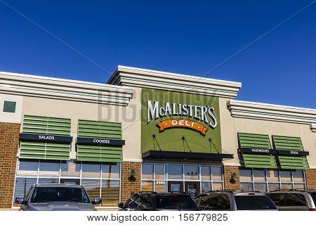 Kokomo - Circa November 2016: McAlister's Deli Fast Casual Restaurant. McAlister's serves their Famous Sweet Tea II