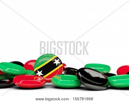 Flag Of Saint Kitts And Nevis, Round Buttons