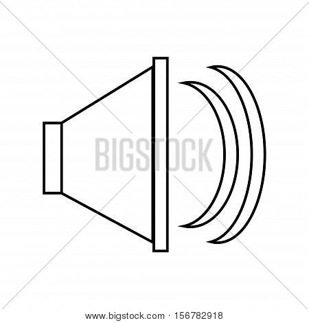 Volume icon. music sound melody and musical theme. Isolated design. Vector illustration