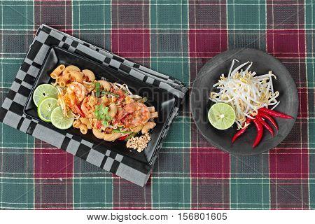 Thai Fried Macaroni With Shrimp , Call Pad Thai Macaroni In Thai.