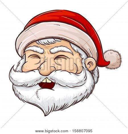 Vector stock of Christmas Santa Claus character with beard and mustache
