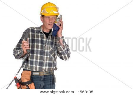 Confused, Stressed Handyman