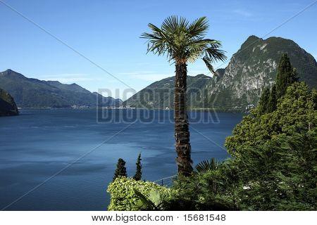 Lugano lake, Switzerland