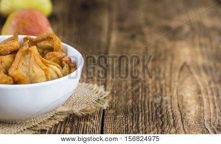 Bowl With Dried Pears (close-up Shot)