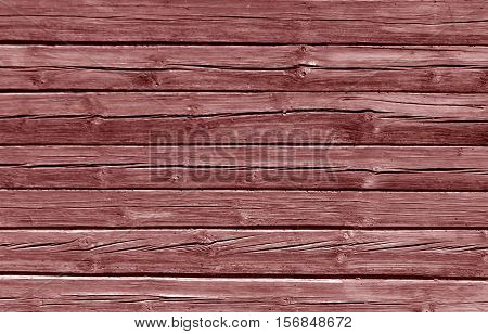 Weathered Brown Color Log House Wall.