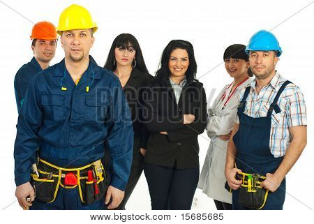 Constructor Worker And Different People Jobs