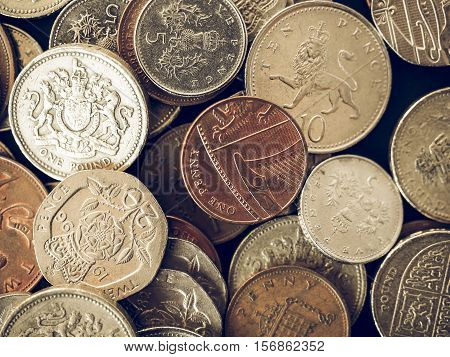 Vintage Uk Pound Coin