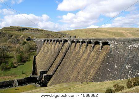 The Claerwen Dam, Elan Valley, Wales.