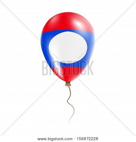 Lao People's Democratic Republic Balloon With Flag. Bright Air Ballon In The Country National Colors
