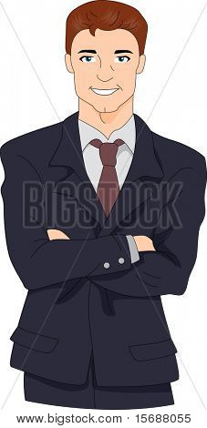 Illustration of a Hunky Businessman