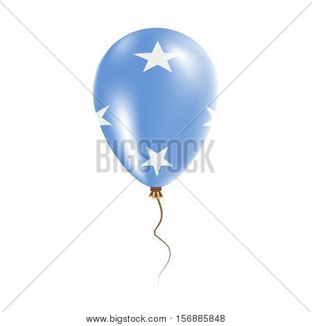 Micronesia, Federated States Of Balloon With Flag. Bright Air Ballon In The Country National Colors.