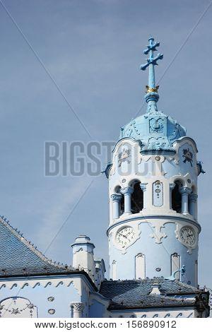 The famous Blue Church (The Church of St Elizabeth ) in Bratislava Slovakia