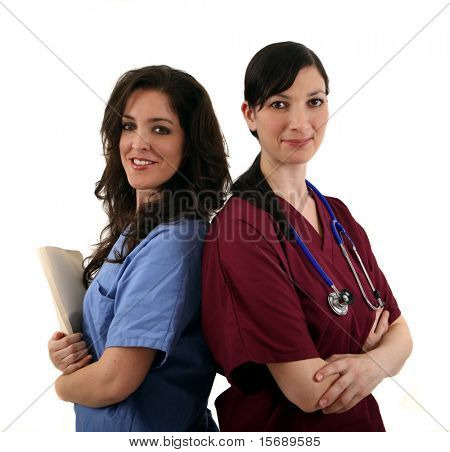 A team of two female medical professionals