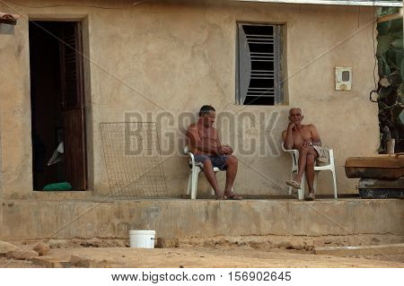 Brazilian Friends are Relaxing  on the veranda
