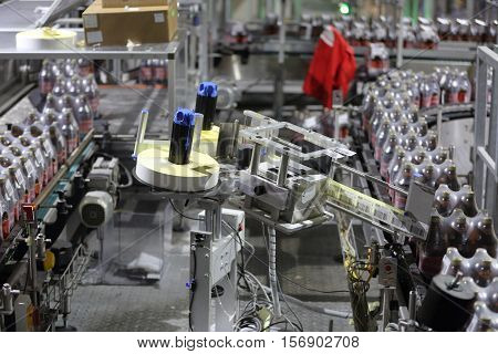 Equipment For Production Of Beer In Factory Shops