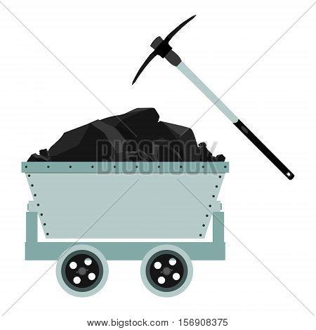 Coal Trolley Vector