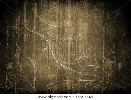 Grungy antique background wallpaper