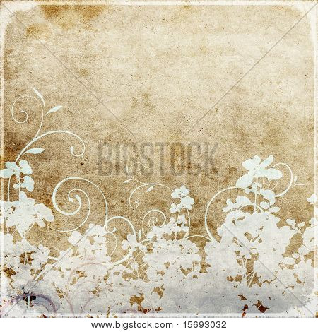 Grungy floral wallpaper