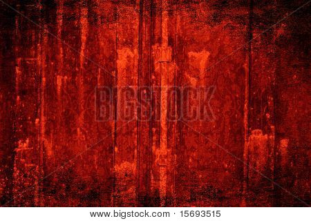 Grungy Victorian red wallpaper